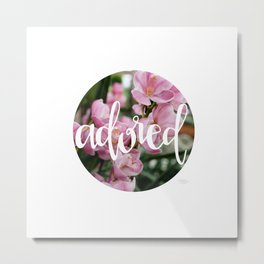 Adored - Botanical  |  The Dot Collection Metal Print