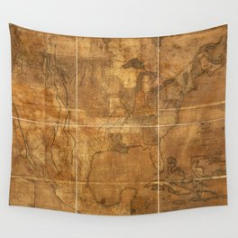 Map of the United States of America (1822) Wall Tapestry