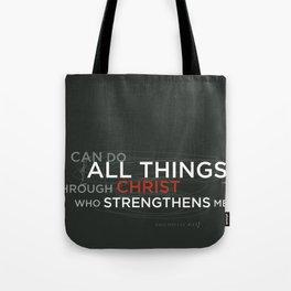 Philippians 4:13 Tote Bag