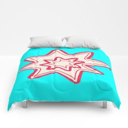 POW -  (Bright Blue) Comforters
