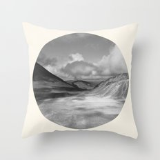 Life Is A Journey (Black & White) Throw Pillow