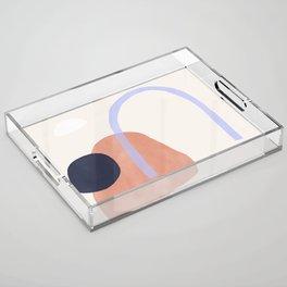 door in the desert Acrylic Tray