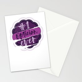 Optician Number One Stationery Cards
