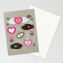 Milagro Hearts - Pink Stationery Cards