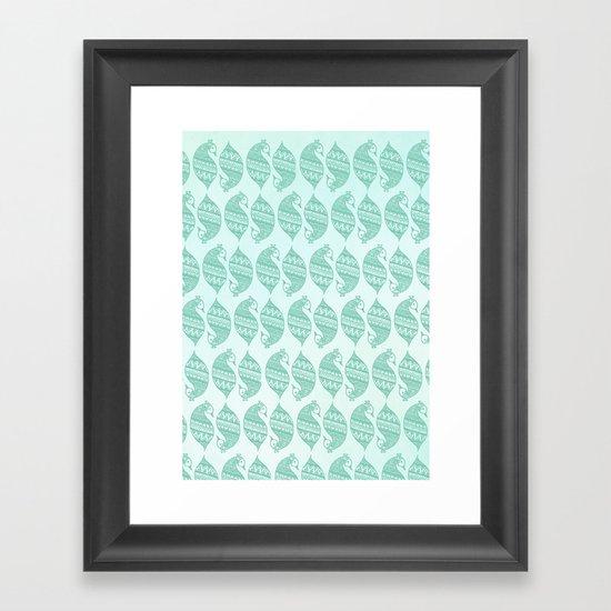 Henna Peacocks Framed Art Print