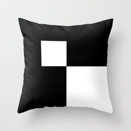 Black and White Color Block #2 Throw Pillow