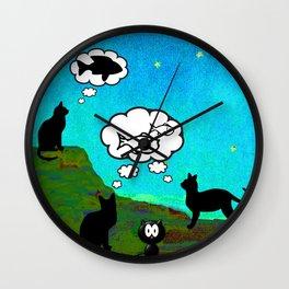 Cats Dreaming inTwilight Wall Clock