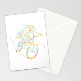 Biking Bikers Bicycle Fitness Exercise Art Gift Stationery Cards