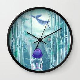 Girl under the sea Wall Clock