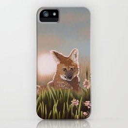 Maned Wolf at Sunset iPhone Case