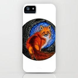 Fox in the magic world iPhone Case