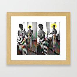 CareFreeBlackWoman Framed Art Print
