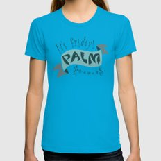 palm Womens Fitted Tee MEDIUM Teal