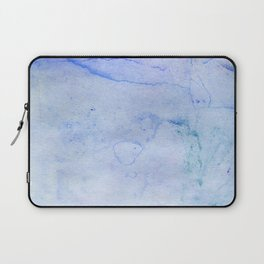 Hand painted blue green abstract watercolor pattern Laptop Sleeve