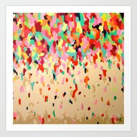 confetti Art Prints featuring Confetti by Megan Carn