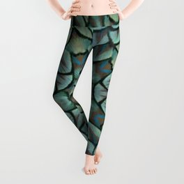 Classic Peacock Feather Kaleidoscope Leggings