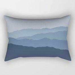 Misty Mountain Blue Rectangular Pillow