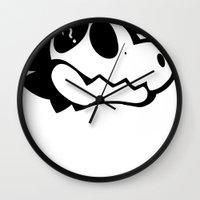 logo Wall Clocks featuring Logo! by Mynosylexia