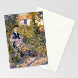 Auguste Renoir Nini in the Garden Stationery Cards