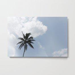 Minimal Palm Metal Print