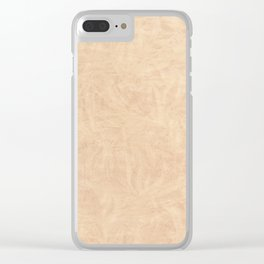 Ecru pattern wrinkled parchment texture Clear iPhone Case