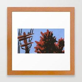 Powerline Trees Framed Art Print