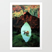 tame impala Art Prints featuring impala by Hugo Barros