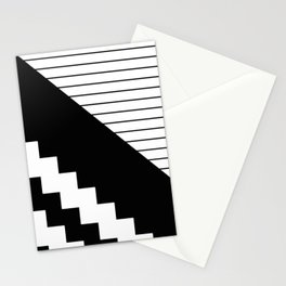 Phases Of Black And White Stationery Cards