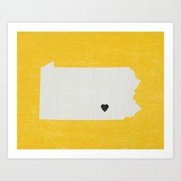 Pennsylvania Love Art Print