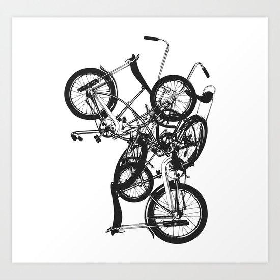 Bike Chaos Art Print