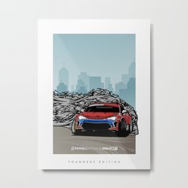 FD GT86/FRS/BRZ Founders Edition Print by PowellRacing Metal Print