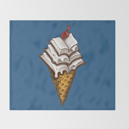 Ice Cream Books Throw Blanket