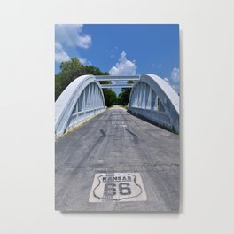 Rainbow Curve Bridge Metal Print
