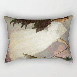 Bat Girl Rectangular Pillow