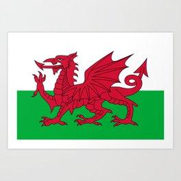 Welsh Flag Art Print