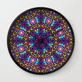 Arabesque kaleidoscopic Mosaic G519 Wall Clock