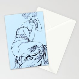 Sketch of Mucha (vertical) Stationery Cards