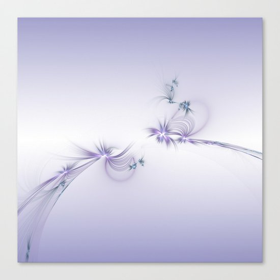 Fey Lights Fractal in Violet Canvas Print