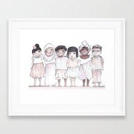 quinnslion love print Framed Art Print