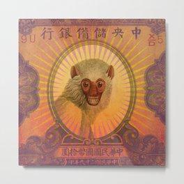 Monkey Banknote 2 Metal Print