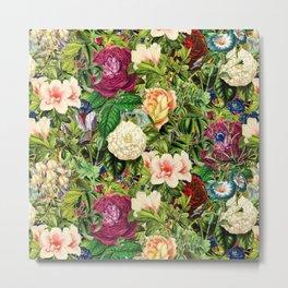 Vintage Floral Garden Metal Print
