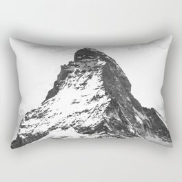 Black and White Mountain Rectangular Pillow
