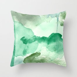Meadow Pool Abstract Throw Pillow