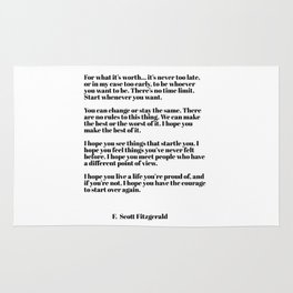 for what it's worth - fitzgerald quotes Rug