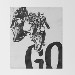 The Horde Motorcycle Art Print Throw Blanket