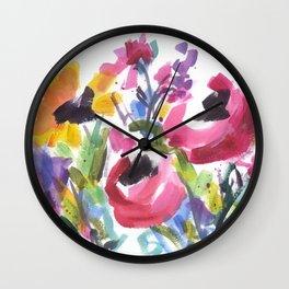 Wildflower Wild Wall Clock