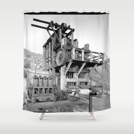 Lost Horse Gold Mill Shower Curtain