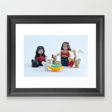 Keep your pets safe in the summer heat Framed Art Print