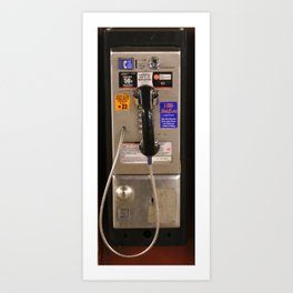 NYC Public Telephone Payphone Art Print