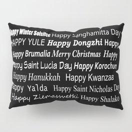 Happy Holidays! Midnight Pillow Sham